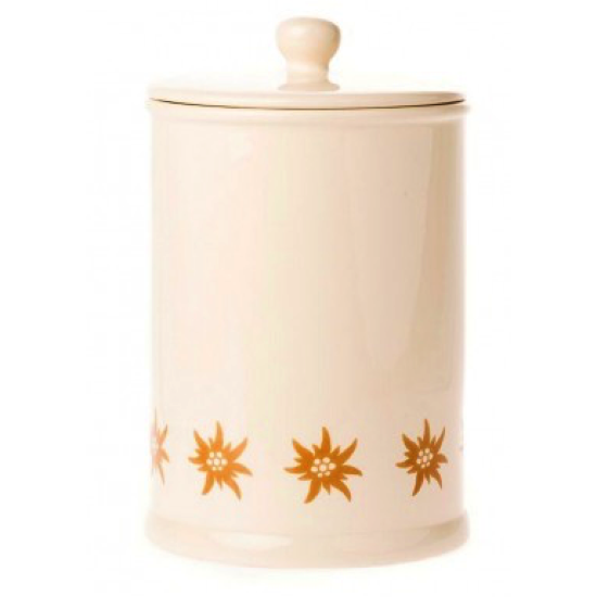 Pot en faience edelweiss