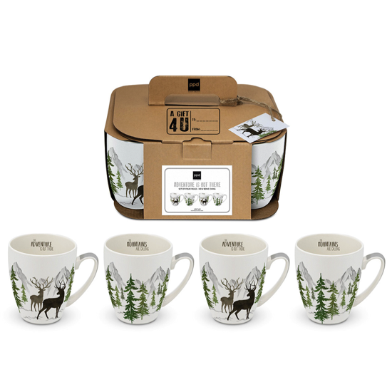 Coffret 4 mug Adventure