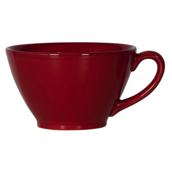 Tasse anse ROUGE Faience 50cl