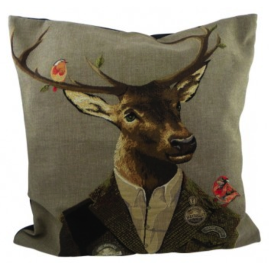 Coussin chasseur cerf rouge 45x45