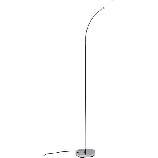 Lampadaire literature chrome LED