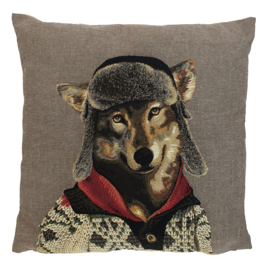 Coussin Nordic Loup