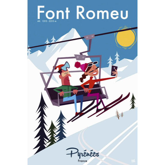 Illustrations GG001 Font Romeu - taille : 50x75