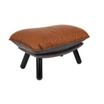 Hocker lazy sack PU leather brown - ZUIVER