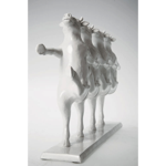 DECO STATUE DANCING COWS