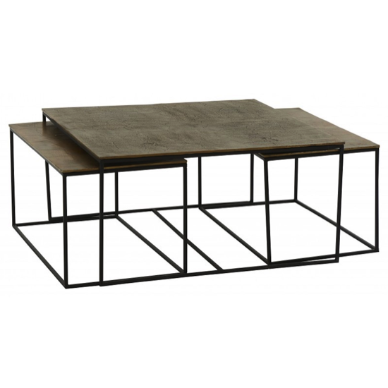 Table basse Ibiza set de 3 (90X90X45)