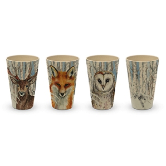 Set de 4 gobelets en bamboo - It's winter again