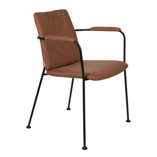 fauteuil fab brown