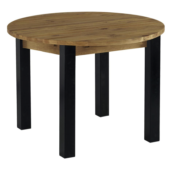 Table ronde 110 avec 1 allonge centrale de 40 cm