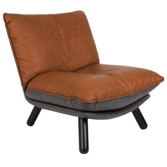 Lounge chair lazy sack PU Leather - ZUIVER