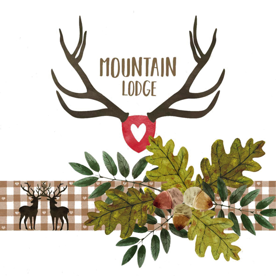 Serviettes Mountain Lodge 33x33