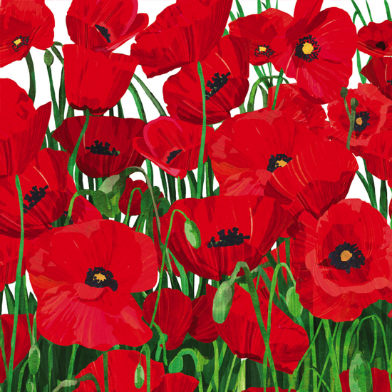 Serviettes en papier Red Poppies 33x33 cm